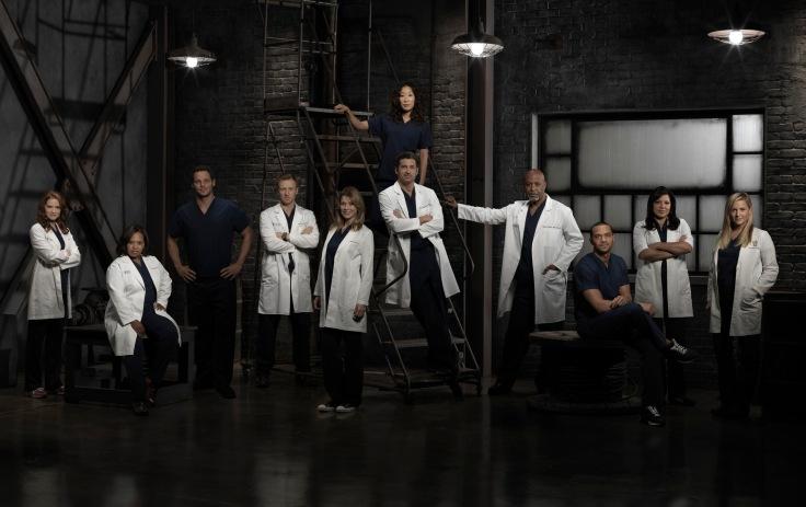 foto de elenco da nona temporada de Grey's Anatomy